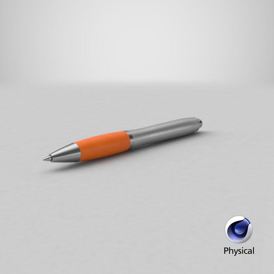 Promotional Ink Pen Mockup 02 Orange royalty-free 3d model - Preview no. 26
