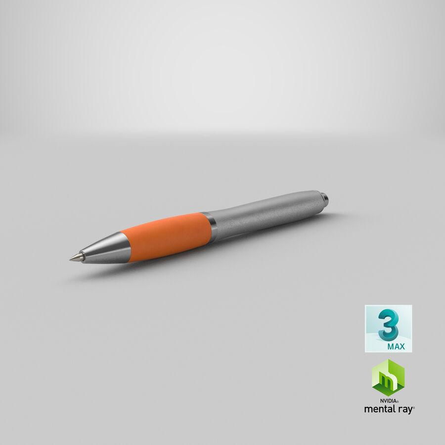 Promotional Ink Pen Mockup 02 Orange royalty-free 3d model - Preview no. 23