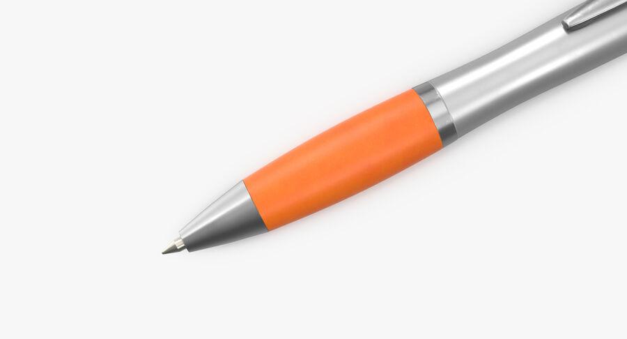 Promotional Ink Pen Mockup 02 Orange royalty-free 3d model - Preview no. 9