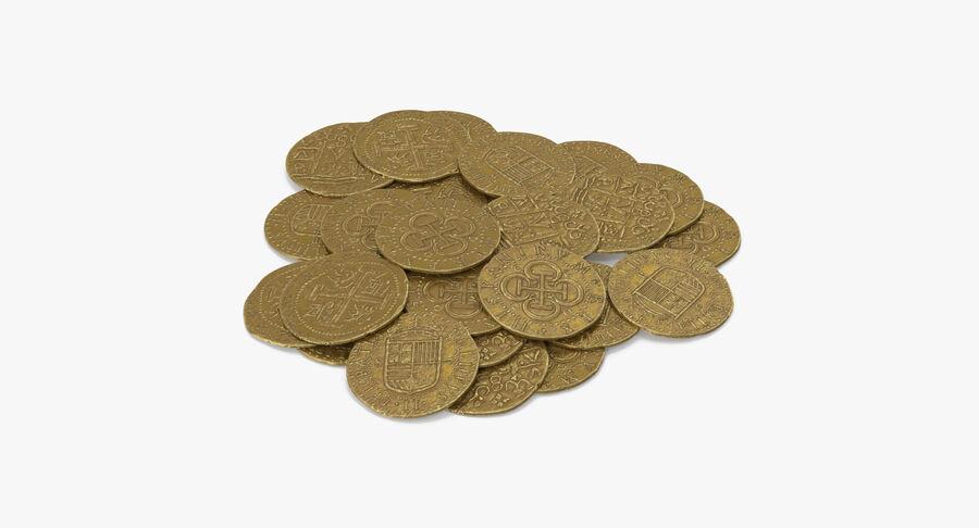 Goldmünzen Haufen royalty-free 3d model - Preview no. 4