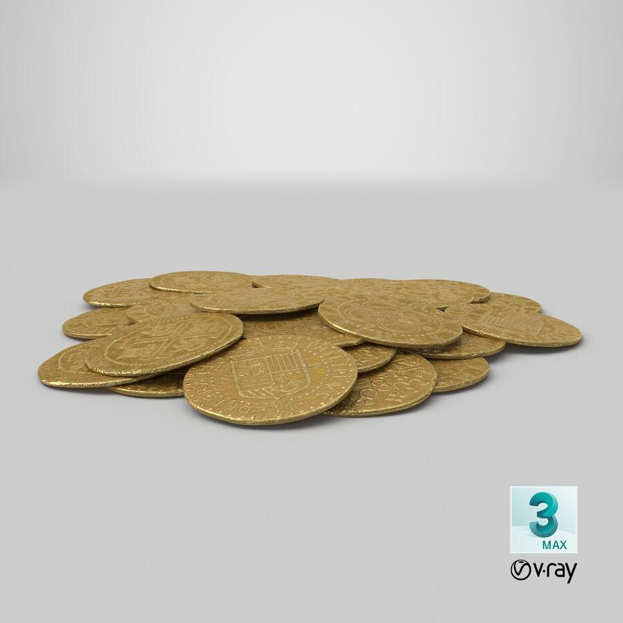 Goldmünzen Haufen royalty-free 3d model - Preview no. 23