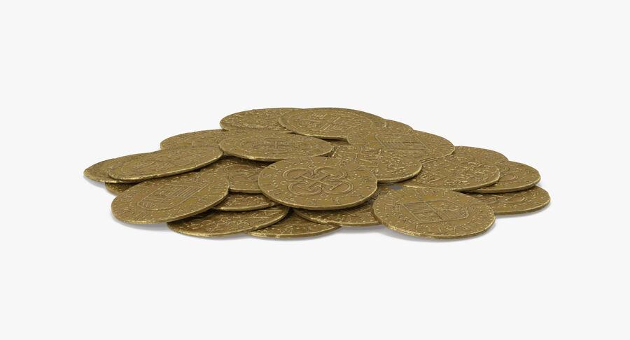 Goldmünzen Haufen royalty-free 3d model - Preview no. 7