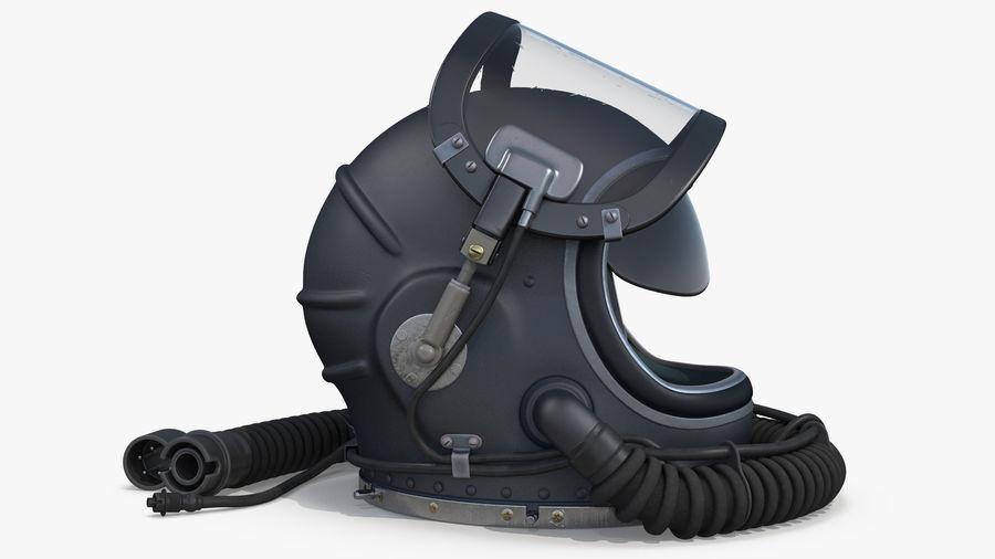 Flight Helmet Raised Visor royalty-free 3d model - Preview no. 4