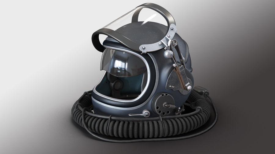 Flight Helmet Raised Visor royalty-free 3d model - Preview no. 3