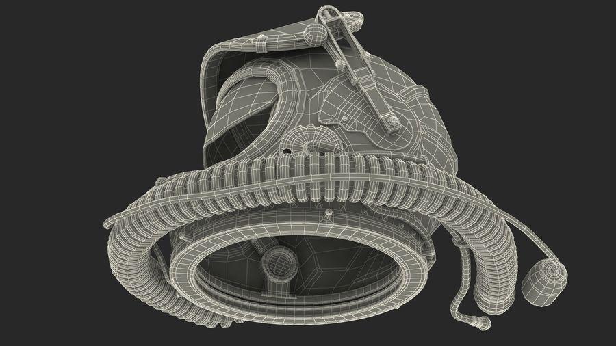 Flight Helmet Raised Visor royalty-free 3d model - Preview no. 16