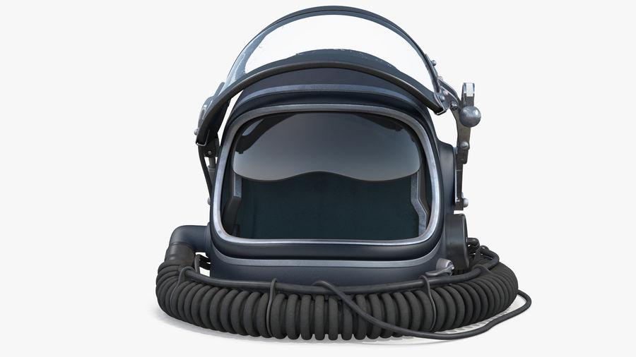 Flight Helmet Raised Visor royalty-free 3d model - Preview no. 5