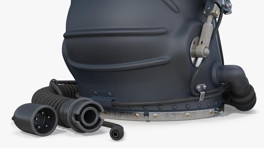 Flight Helmet Raised Visor royalty-free 3d model - Preview no. 8