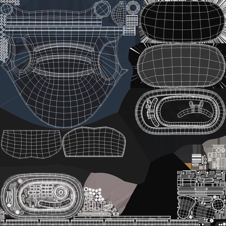 Flight Helmet Raised Visor royalty-free 3d model - Preview no. 12