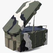 Camouflage S300 Flap Lid B Missile Guidance Radar Rigged 3d model