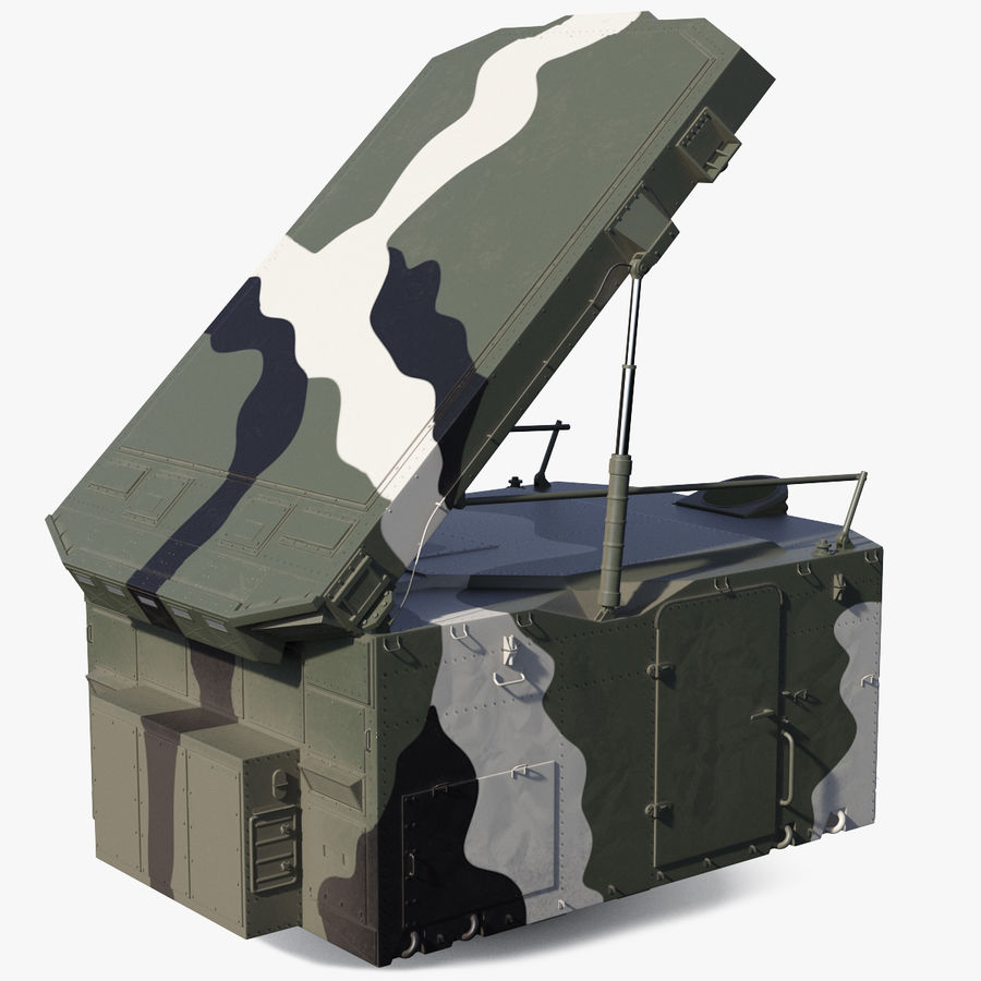 Camouflage S300 Flap Lid B Missile Guidance Radar Rigged royalty-free 3d model - Preview no. 1