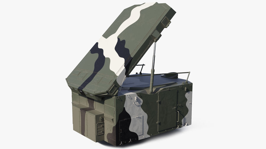 Camouflage S300 Flap Lid B Missile Guidance Radar Rigged royalty-free 3d model - Preview no. 2