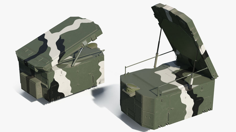 Camouflage S300 Flap Lid B Missile Guidance Radar Rigged royalty-free 3d model - Preview no. 7