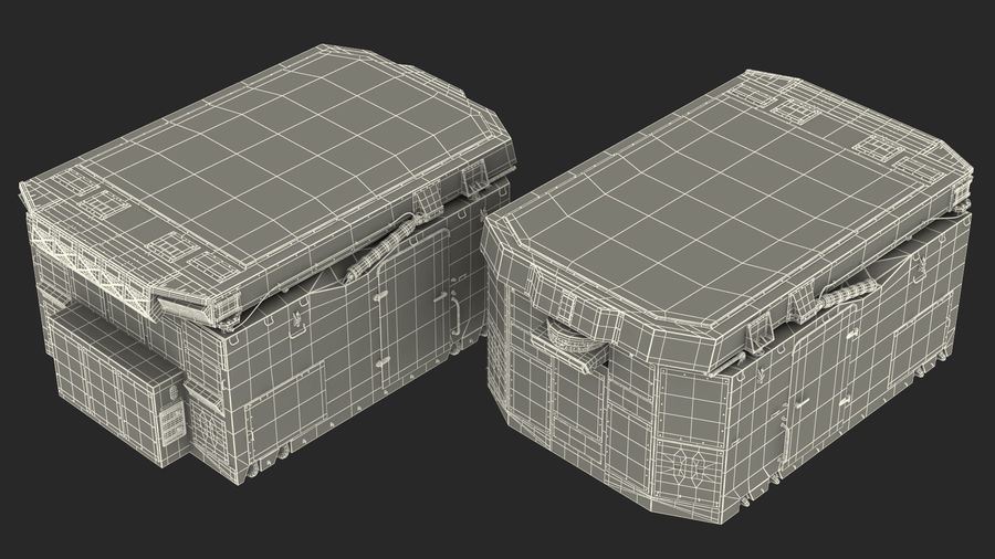 Camouflage S300 Flap Lid B Missile Guidance Radar Rigged royalty-free 3d model - Preview no. 34