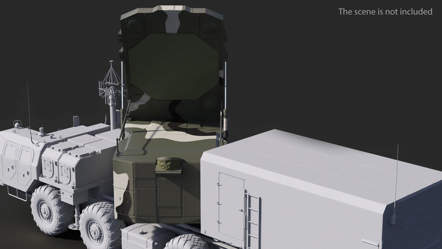 Camouflage S300 Flap Lid B Missile Guidance Radar Rigged royalty-free 3d model - Preview no. 4