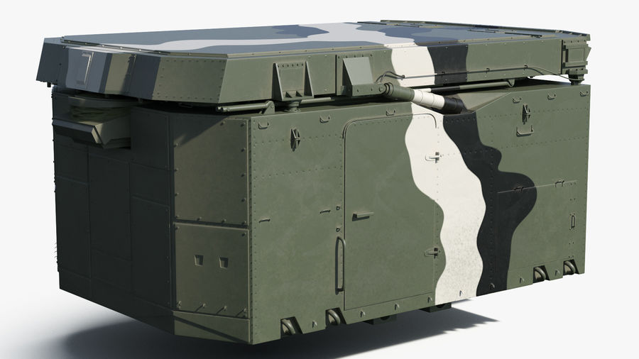 Camouflage S300 Flap Lid B Missile Guidance Radar Rigged royalty-free 3d model - Preview no. 15