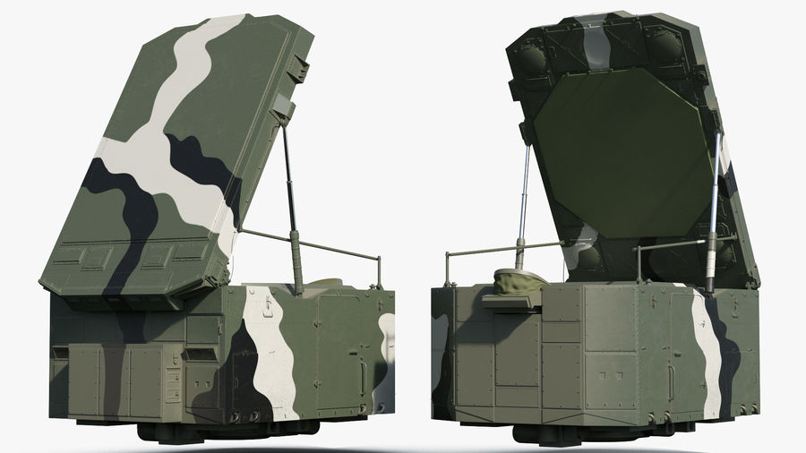 Camouflage S300 Flap Lid B Missile Guidance Radar Rigged royalty-free 3d model - Preview no. 9