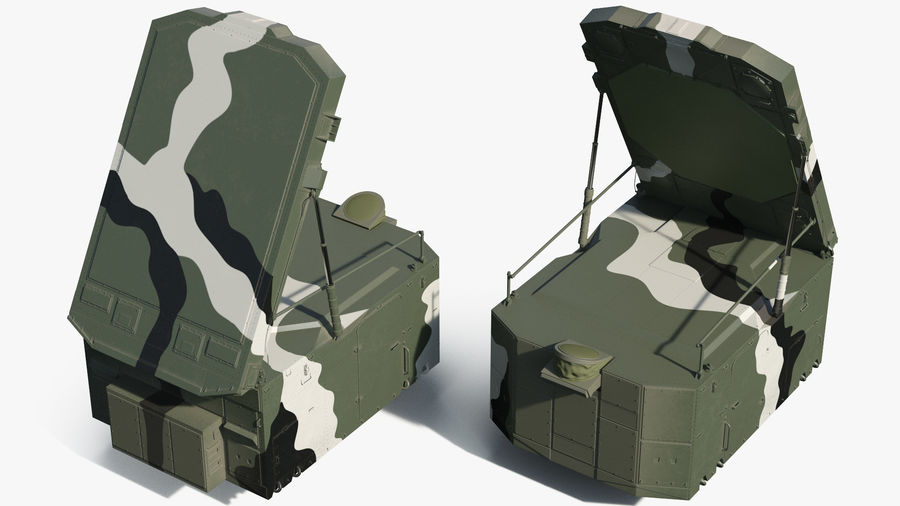 Camouflage S300 Flap Lid B Missile Guidance Radar Rigged royalty-free 3d model - Preview no. 6