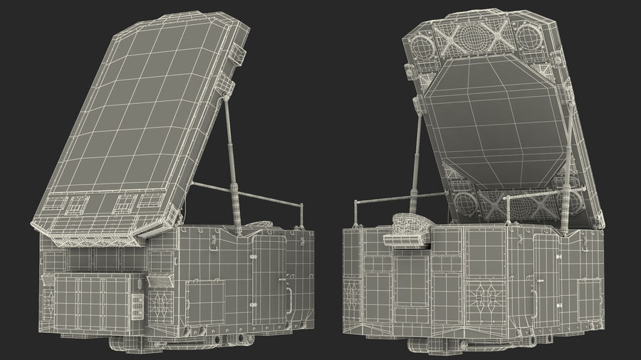 Camouflage S300 Flap Lid B Missile Guidance Radar Rigged royalty-free 3d model - Preview no. 35