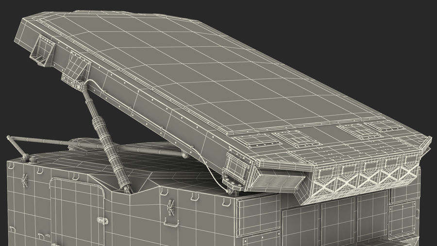 Camouflage S300 Flap Lid B Missile Guidance Radar Rigged royalty-free 3d model - Preview no. 41