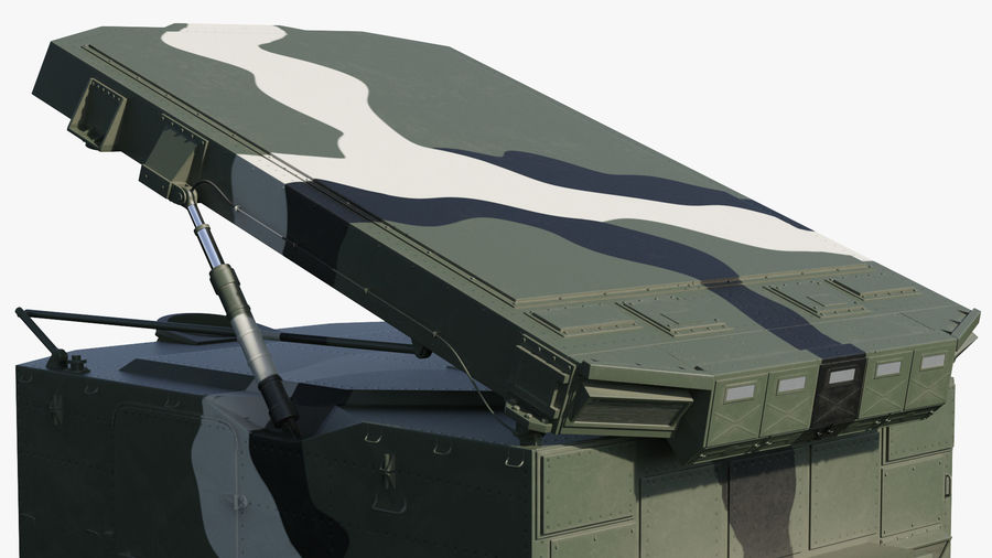 Camouflage S300 Flap Lid B Missile Guidance Radar Rigged royalty-free 3d model - Preview no. 26