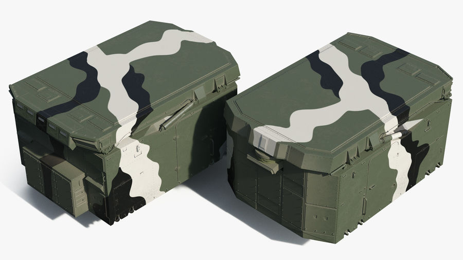 Camouflage S300 Flap Lid B Missile Guidance Radar Rigged royalty-free 3d model - Preview no. 8