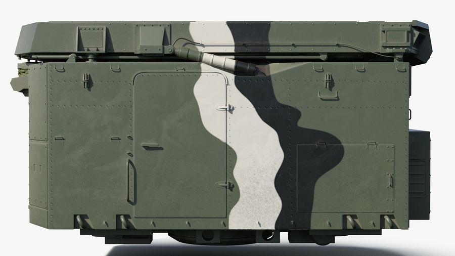 Camouflage S300 Flap Lid B Missile Guidance Radar Rigged royalty-free 3d model - Preview no. 11