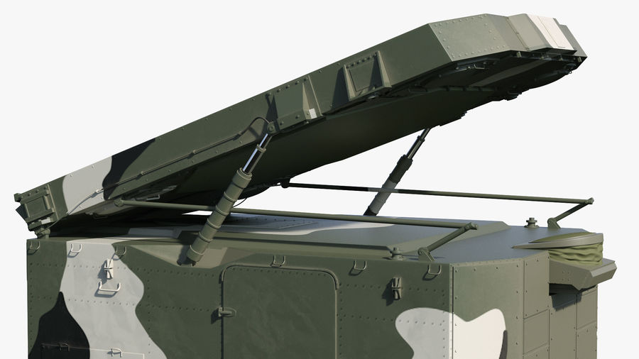 Camouflage S300 Flap Lid B Missile Guidance Radar Rigged royalty-free 3d model - Preview no. 25