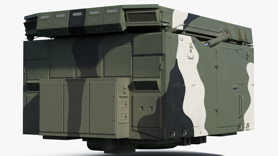 Camouflage S300 Flap Lid B Missile Guidance Radar Rigged royalty-free 3d model - Preview no. 13