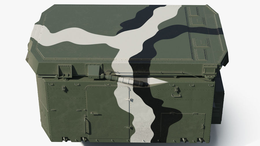 Camouflage S300 Flap Lid B Missile Guidance Radar Rigged royalty-free 3d model - Preview no. 14