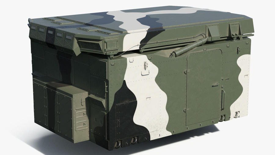 Camouflage S300 Flap Lid B Missile Guidance Radar Rigged royalty-free 3d model - Preview no. 10