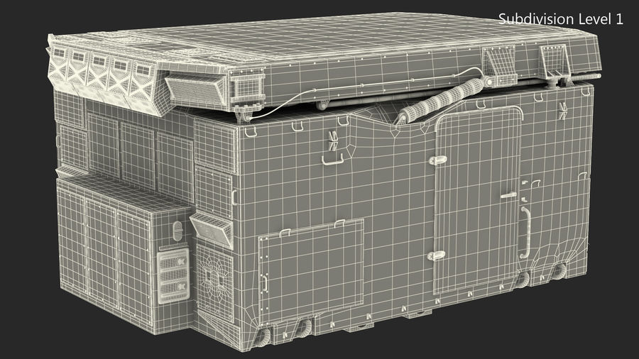 Camouflage S300 Flap Lid B Missile Guidance Radar Rigged royalty-free 3d model - Preview no. 30