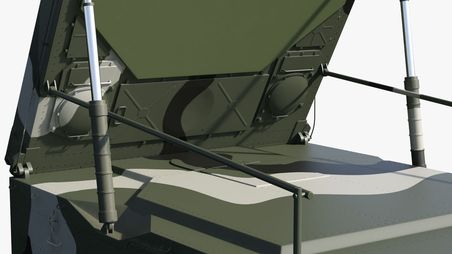 Camouflage S300 Flap Lid B Missile Guidance Radar Rigged royalty-free 3d model - Preview no. 23