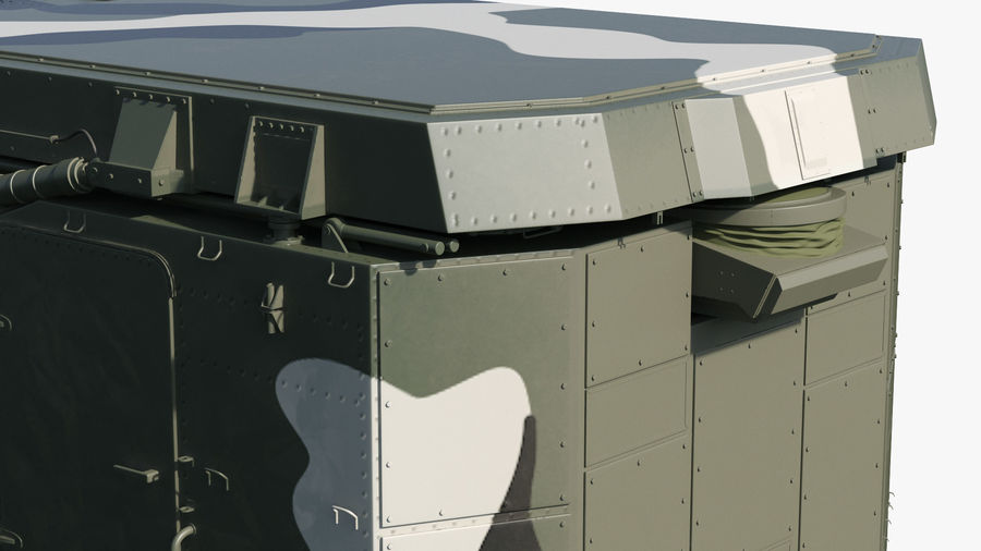 Camouflage S300 Flap Lid B Missile Guidance Radar Rigged royalty-free 3d model - Preview no. 16