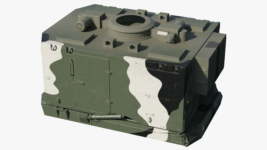 Camouflage S300 Flap Lid B Missile Guidance Radar Rigged royalty-free 3d model - Preview no. 27