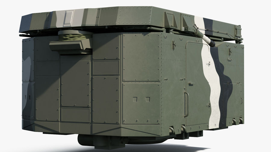 Camouflage S300 Flap Lid B Missile Guidance Radar Rigged royalty-free 3d model - Preview no. 12