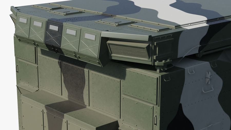 Camouflage S300 Flap Lid B Missile Guidance Radar Rigged royalty-free 3d model - Preview no. 17