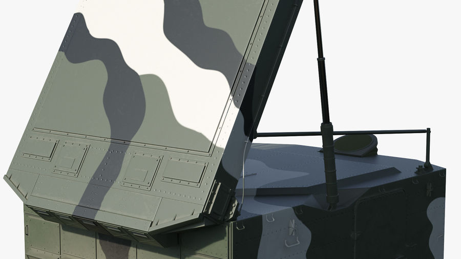 Camouflage S300 Flap Lid B Missile Guidance Radar Rigged royalty-free 3d model - Preview no. 22