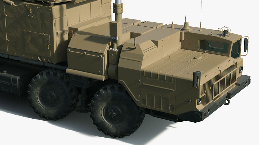 Desert Flap Lid B S300 Missile Guidance Radar Rigged royalty-free 3d model - Preview no. 23