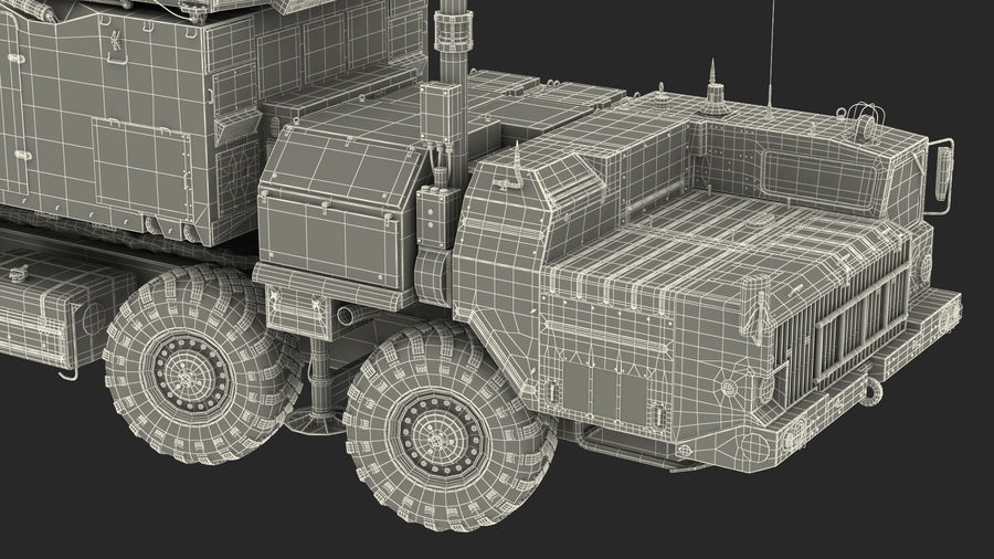 Desert Flap Lid B S300 Missile Guidance Radar Rigged royalty-free 3d model - Preview no. 46
