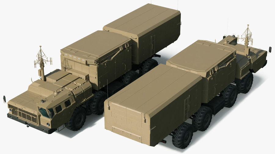 Desert Flap Lid B S300 Missile Guidance Radar Rigged royalty-free 3d model - Preview no. 10