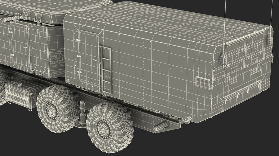 Desert Flap Lid B S300 Missile Guidance Radar Rigged royalty-free 3d model - Preview no. 42