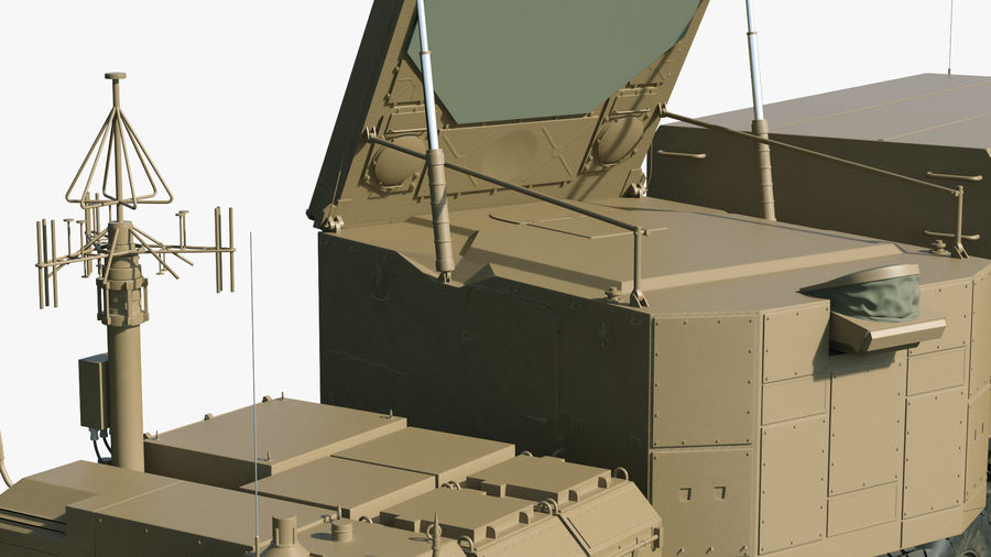 Desert Flap Lid B S300 Missile Guidance Radar Rigged royalty-free 3d model - Preview no. 24