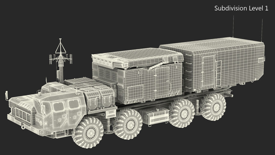 Desert Flap Lid B S300 Missile Guidance Radar Rigged royalty-free 3d model - Preview no. 35