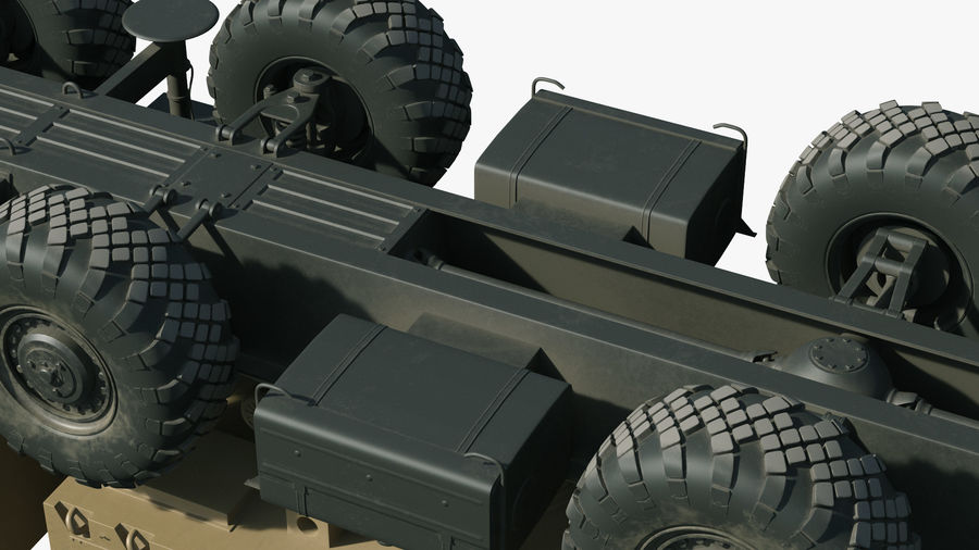 Desert Flap Lid B S300 Missile Guidance Radar Rigged royalty-free 3d model - Preview no. 33
