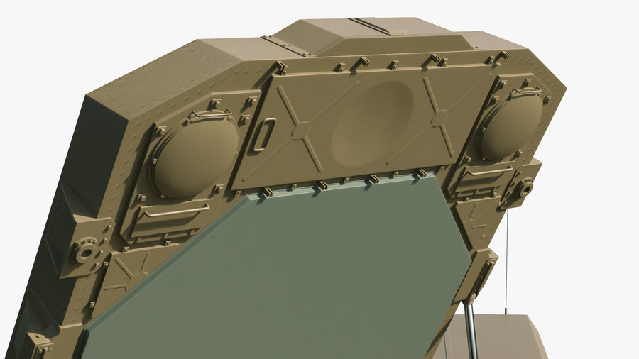 Desert Flap Lid B S300 Missile Guidance Radar Rigged royalty-free 3d model - Preview no. 18