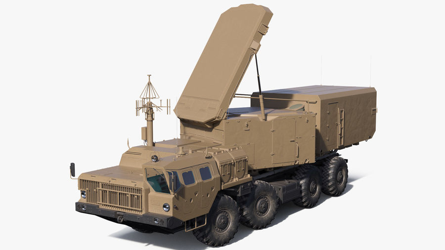 Desert Flap Lid B S300 Missile Guidance Radar Rigged royalty-free 3d model - Preview no. 2