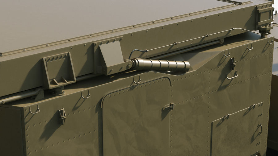 Desert Flap Lid B S300 Missile Guidance Radar Rigged royalty-free 3d model - Preview no. 27