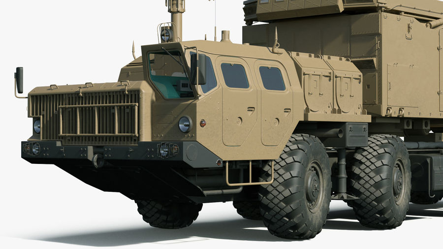 Desert Flap Lid B S300 Missile Guidance Radar Rigged royalty-free 3d model - Preview no. 19