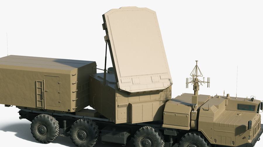 Desert Flap Lid B S300 Missile Guidance Radar Rigged royalty-free 3d model - Preview no. 15