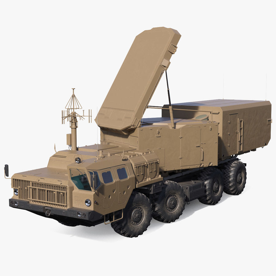 Desert Flap Lid B S300 Missile Guidance Radar Rigged royalty-free 3d model - Preview no. 1